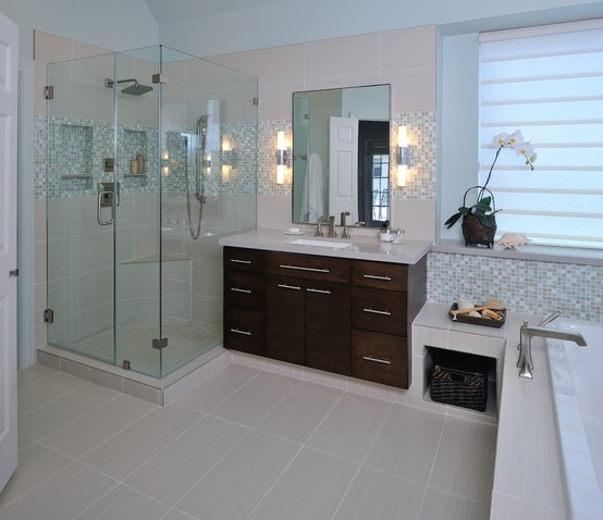 How-To DIY Article   11 Simple DIY Ways To Make Your Small Bathroom Look BIGGER   Image Source:Carla Aston  CLICK TO ENJOY... http://carlaaston.com/designed/11-easy-ways-to-make-a-small-bathroom-look-bigger (KWs: mirror, cabinet, closet, lighting)