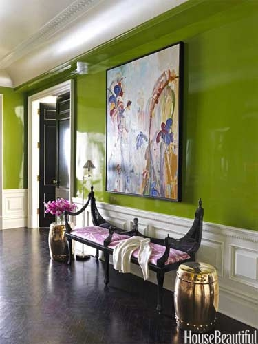ARTICLE & GALLERY | Go Glossy, Feel Glamorous! - Get Inspired By These Shiny, Happy Interiors | Image Source: House Beautiful | CLICK TO ENJOY... http://carlaaston.com/designed/go-glossy-feel-glamorous (KWs: gloss, paint, wall, cabinet, door, finish)