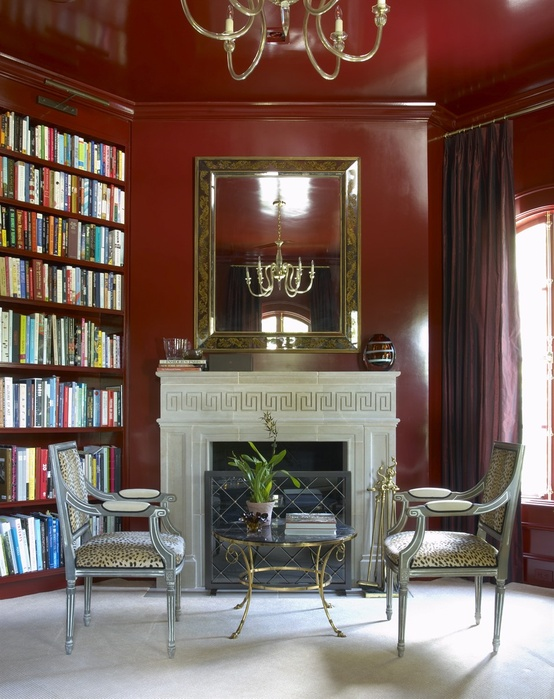 ARTICLE & GALLERY | Go Glossy, Feel Glamorous! - Get Inspired By These Shiny, Happy Interiors | Image Source: Jan Showers | CLICK TO ENJOY... http://carlaaston.com/designed/go-glossy-feel-glamorous (KWs: gloss, paint, wall, cabinet, door, finish)