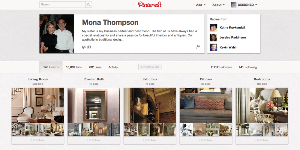 Follow Mona on Pinterest!