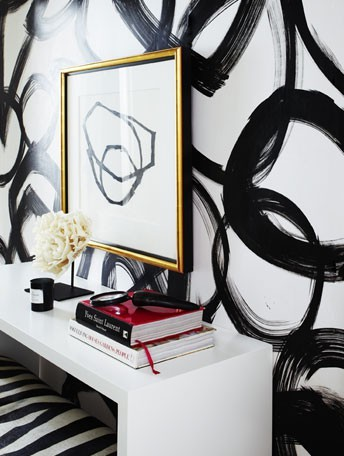 ARTICLE + GALLERY | Could You Handle These CRAZY Walls?! | Image Source: Ferreira Design | CLICK TO ENJOY... http://carlaaston.com/designed/crazy-wall-inspiration | (KWs: wall, paint, wallpaper, Kelly Wearstler, art, color)