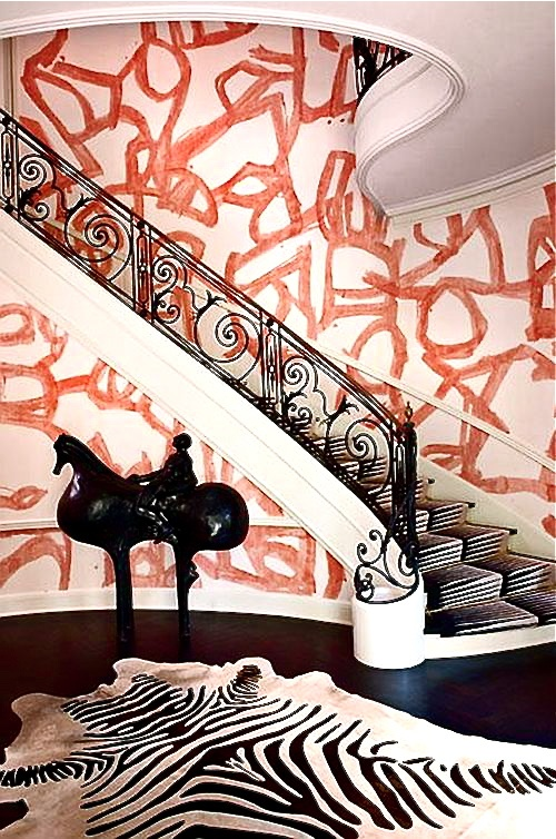 ARTICLE + GALLERY | Could You Handle These CRAZY Walls?! | Image Source:  Kelly Wearstler  | CLICK TO ENJOY... http://carlaaston.com/designed/crazy-wall-inspiration | (KWs: wall, paint, wallpaper, Kelly Wearstler, art, color)