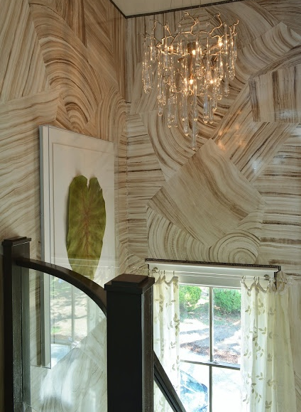 ARTICLE + GALLERY | Could You Handle These CRAZY Walls?! | Image Source:  Bridget Beari Richmond Symphony Showhouse | CLICK TO ENJOY... http://carlaaston.com/designed/crazy-wall-inspiration | (KWs: wall, paint, wallpaper, Kelly Wearstler, art, color)