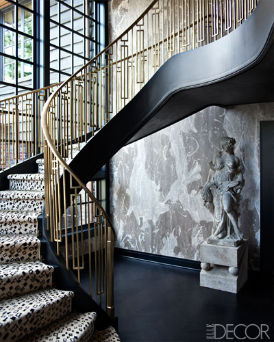 ARTICLE + GALLERY | Could You Handle These CRAZY Walls?! | Image Source: Kelly Wearstler + Elle Decor  | CLICK TO ENJOY... http://carlaaston.com/designed/crazy-wall-inspiration | (KWs: wall, paint, wallpaper, Kelly Wearstler, art, color)