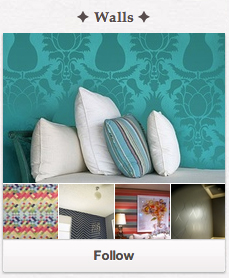 "Follow the ""Walls"" Board on Pinterest!"