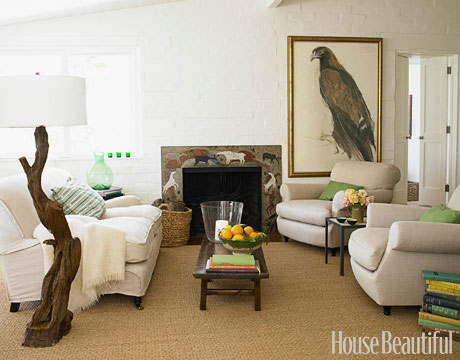 ARTICLE | How To Add Color To An Open Plan House - Tip #439: Just A Dab Will Do Ya | Image Source:Victoria Pearson& House Beautiful | CLICK TO ENJOY... http://carlaaston.com/designed/how-to-add-color-open-plan-house-dab-will-do-ya | (KWs: paint, wall )