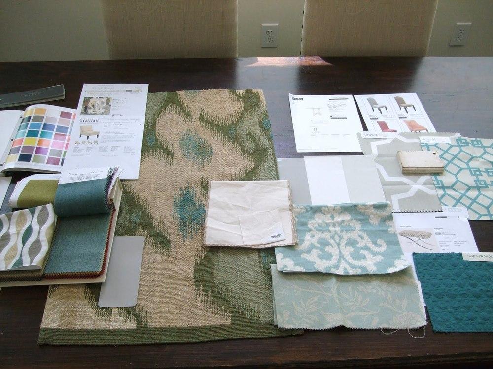 Fabrics & Rug | Click image to enlarge fullscreen.