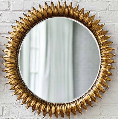 Regina Andrew Decor Sun Antique Gold Round Mirror | Click for full description