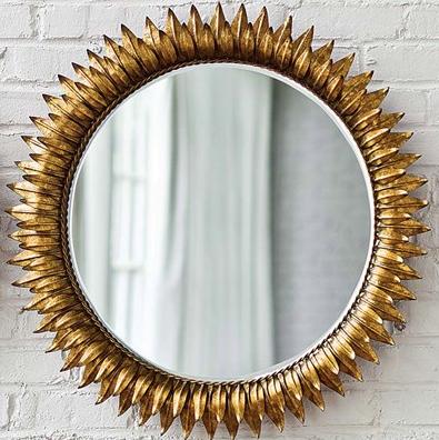 Regina Andrew Decor Sun Antique Gold Round Mirror | Click for full description