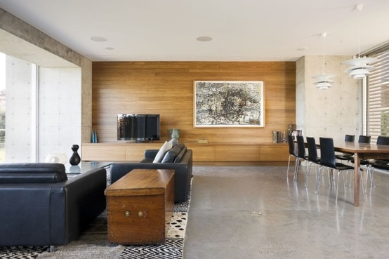 ARTICLE & GALLERY | Cure A Contemporary Interior's Cold Conditions With This All-Natural Remedy | Image Source: The Contemporist | CLICK TO ENJOY... http://carlaaston.com/designed/warm-style-for-cold-contemporary-interior | (KWs: design, reclaimed, wood, texture)