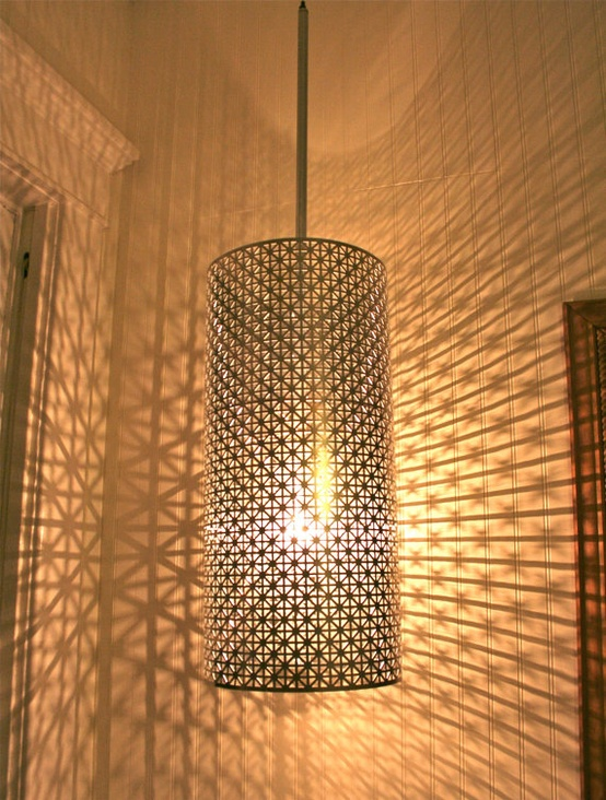 ARTICLE + GALLERY |Patterns Of Light | Their Shine Will Surprise Any Design|Image Source: Unknown | CLICK TO ENJOY... http://carlaaston.com/designed/patterns-of-lighting | (KWs: lighting, lamp, ambience, fixture )