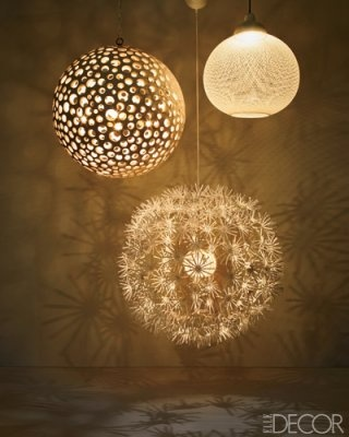 ARTICLE + GALLERY  Patterns Of Light   Their Shine Will Surprise Any Design Image Source: Elle Decor   CLICK TO ENJOY... http://carlaaston.com/designed/patterns-of-lighting   (KWs: lighting, lamp, ambience, fixture )