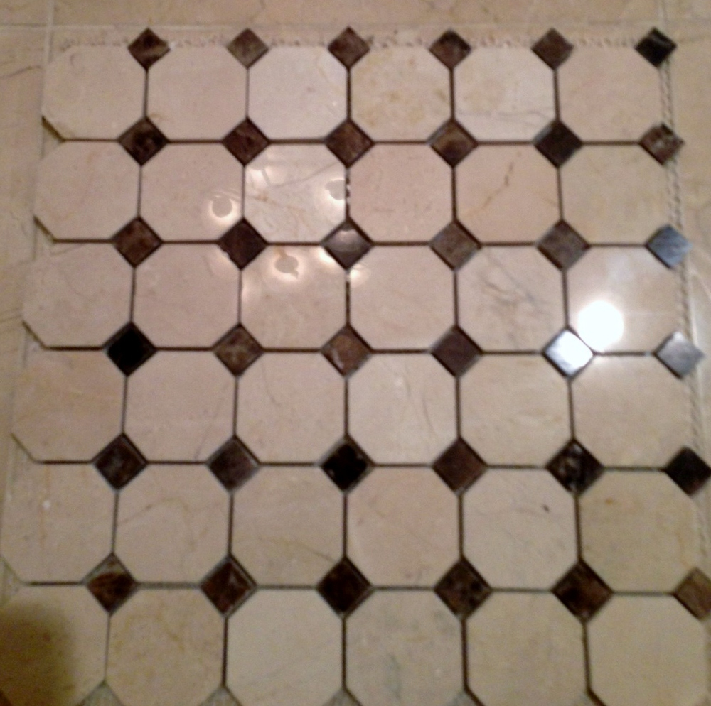 Article ➤ http://CarlaAston.com/craving-mosaics (DESPERATELY) CRAVING MOSAICS | (KWs: tile, bathroom, texture, emperador, wallpaper)