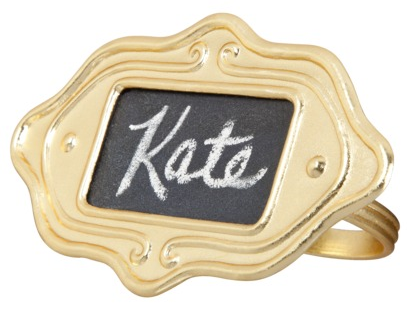 NEEDED: Two four-piece sets of Gold Chalkboard Napkin Rings = $15.98 ($7.99 x 2) @Target