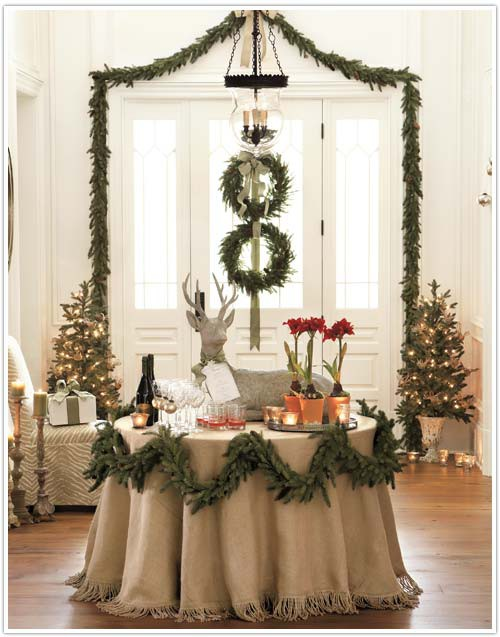 Christmas Buffet Table Settings