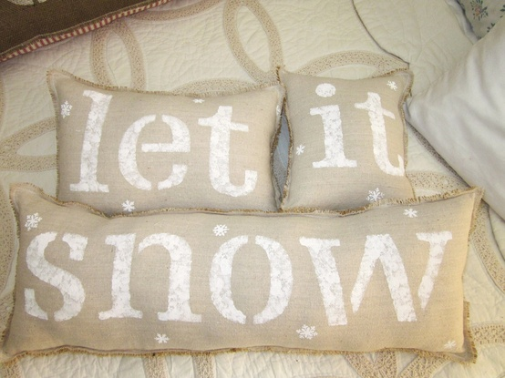 Article + Gallery ➤ http://CARLAASTON.com/designed/decorating-with-burlap For The Love Of Burlap | The Holiday's Hottest Decorating Tool (Image Source: 112 Farmhouse Lane - KWs: decor, tutorial, DIY, Christmas, pillow)