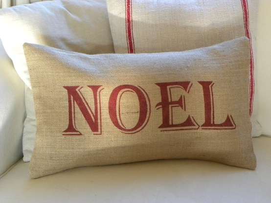 Article + Gallery ➤ http://CARLAASTON.com/designed/decorating-with-burlap For The Love Of Burlap | The Holiday's Hottest Decorating Tool (Image Source: The Nest Uk - KWs: decor, tutorial, DIY, Christmas, pillow)
