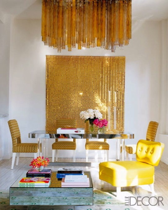 Article + Gallery ➤ http://CARLAASTON.com/designed/lighting-makes-artistic-statement When Lighting Makes A Design's Artistic Statement - Image Source: Elle Decor (KWs: light art, chandelier  )