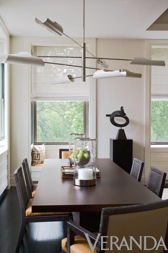 Article + Gallery ➤ http://CARLAASTON.com/designed/lighting-makes-artistic-statement When Lighting Makes A Design's Artistic Statement - Image Source: Veranda (KWs: light art, chandelier )
