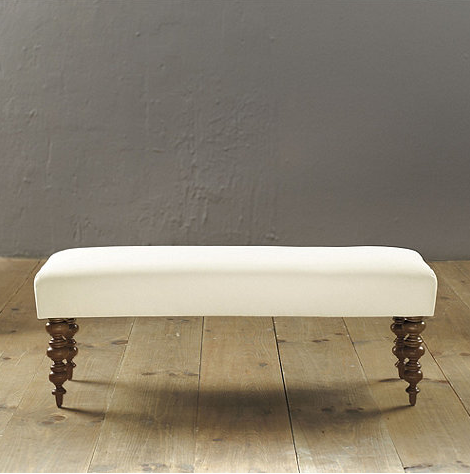 NEEDED: Ottoman (in Mckenzie Stripe Natural Fabric & Finish) - $375 @BallardDesigns
