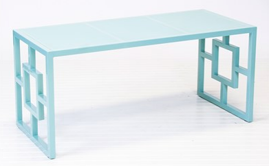 Worlds Away Charleston Turquoise Bench | Layla Grayce    Geometric design takes on contemporary form with the effortlessly chic Charleston bench.