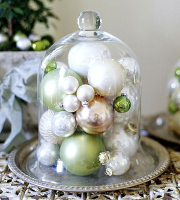 Click here ➤ http://CARLAASTON.com/designed/decor-under-glass for 18 beautiful examples of the magic created when decor is placed under glass! (Image credit: bhg.com - KWs: ornament )
