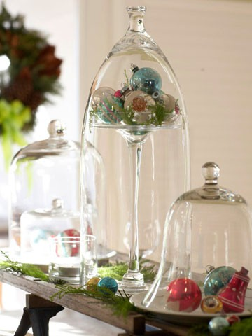 Click here ➤ http://CARLAASTON.com/designed/decor-under-glass for 18 beautiful examples of the magic created when decor is placed under glass! (Image credit: bhg.com  )