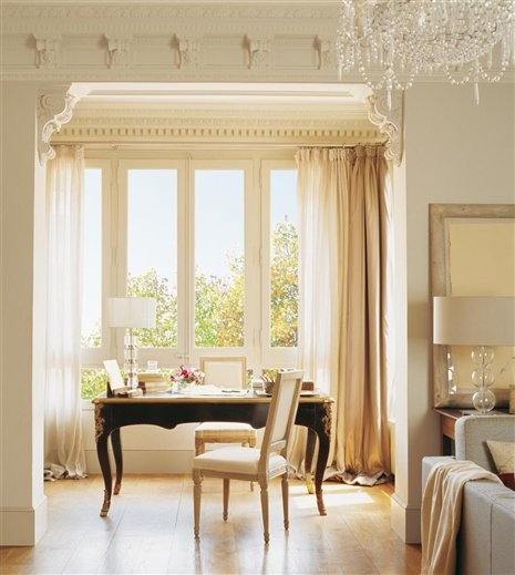 5 Curtain Ideas For Bay Windows Curtains Up Blog: Do You Dare Position A Desk In Front Of An Office Window