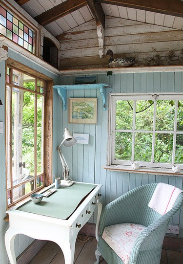 Do You Dare Position A #Desk Next To An #Office #Window? Is It Too Distracting? You Be The Judge ➤http://CARLAASTON.com/designed/position-desk-aside-home-office-window