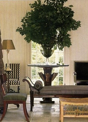 When The Greenery Goes A 'Lil Crazy (...& That's A GOOD Thing ;-) ➤ http://CARLAASTON.com/designed/swap-holiday-decor-for-indoor-plants #indoor #plant