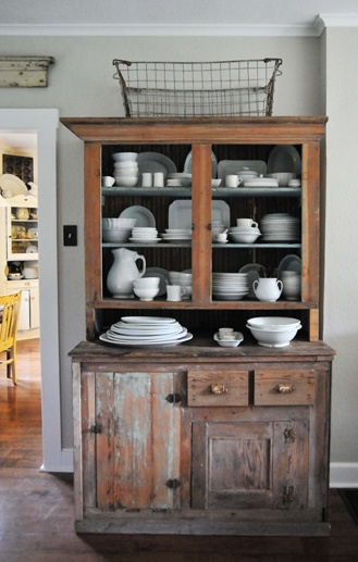 How To Decor To Adore: Creating Storage Versus Decorating the Tops ofate The Top Of A Cabinet (AND How NOT To) — DESIGNED w - Decorating Cupboard Tops