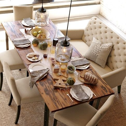 Image via: Apartment Therapy - 19 Lovely Ways A Settee Can Squeeze More Guests Around The Dining