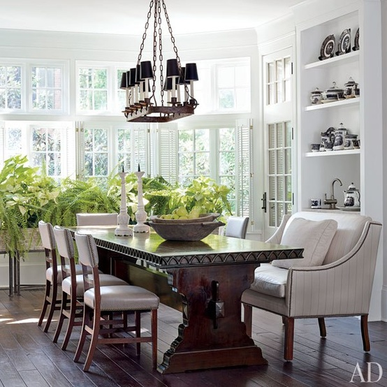 Interior Designer:  Darryl Carter , Image via;  Architectural Digest