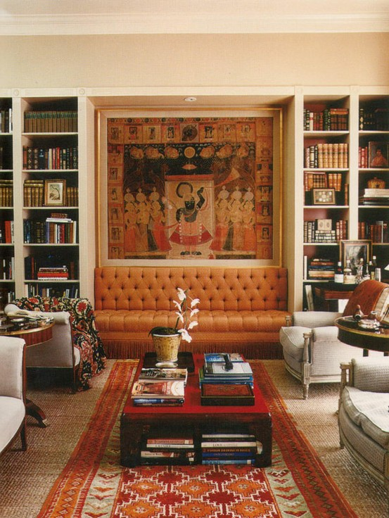 Why A Sofa Set Between Built-Ins Builds Such A Sweet Ambience ➤ http://CARLAASTON.com/designed/sofa-between-built-ins