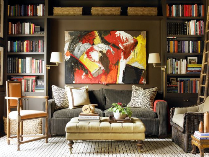 Sofa Set Between Built-Ins |  Courtney Giles , Designer