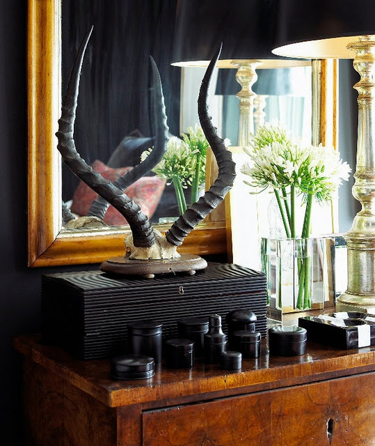 73 Items Sit Atop My Tiny Dresser & It Looks GREAT! Here's How... ➤ http://CARLAASTON.com/designed/crowded-tablescape-vignette #tablescape #vignette