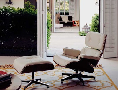 Forever A Classic, The Eames Chair Evolves Into A Black & White Future ➤ http://CARLAASTON.com/designed/classic-eames-chair-black-white-color