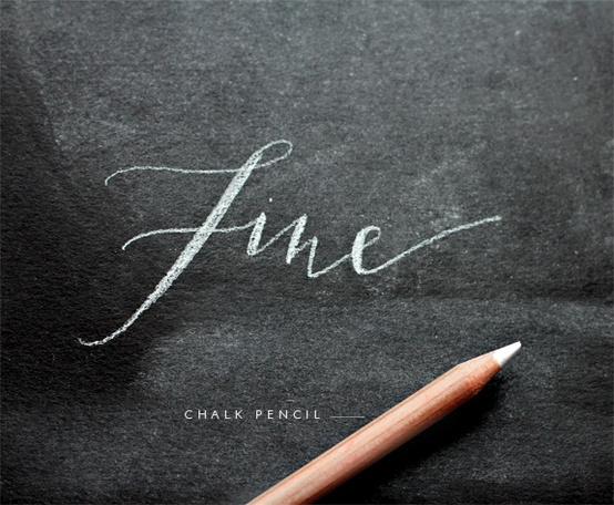 chalkboard pencil