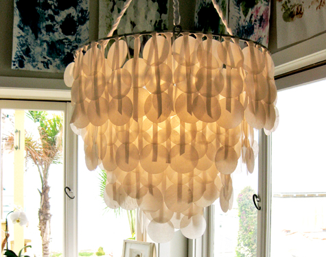 DIY PROJECT: Brenna's Paper Capiz Shell Chandelier