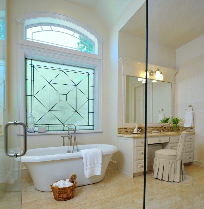 Regain your bathroom privacy natural light w this window treatment designed Bathroom designs with window in shower