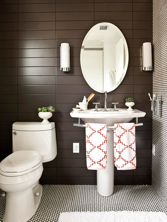no space around the sink for a towel bar here 39 s your solution designed. Black Bedroom Furniture Sets. Home Design Ideas