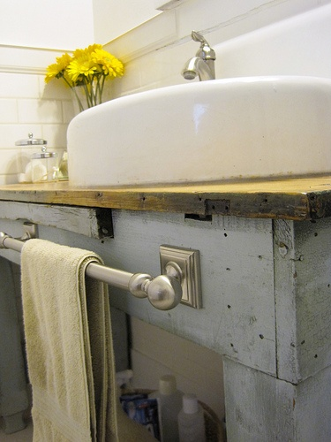 No Space Around The Sink For A Towel Bar Here S Your Solution Designed