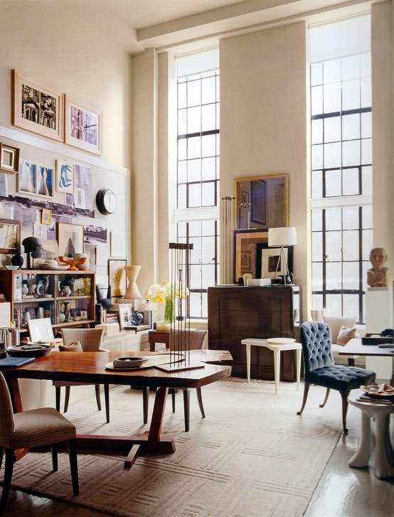 Designer: Thomas O'Brien, Aero Studios - How To Decorate A Room With High Ceilings — DESIGNED