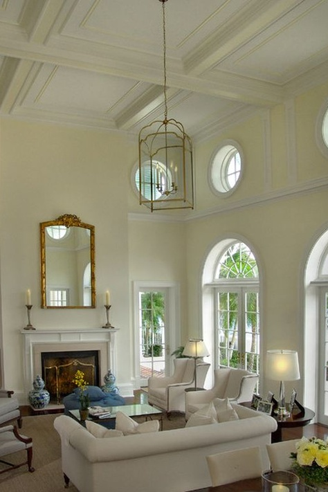How to decorate a room with high ceilings designed for Great room lighting high ceilings