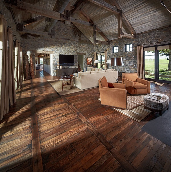 mage: Reclaimed from pallets - 2013 Best Reclaimed Wood Floor of the Year,  Schenck & Co., Houston, TX , from Nat'l. Wood Flooring Assoc.