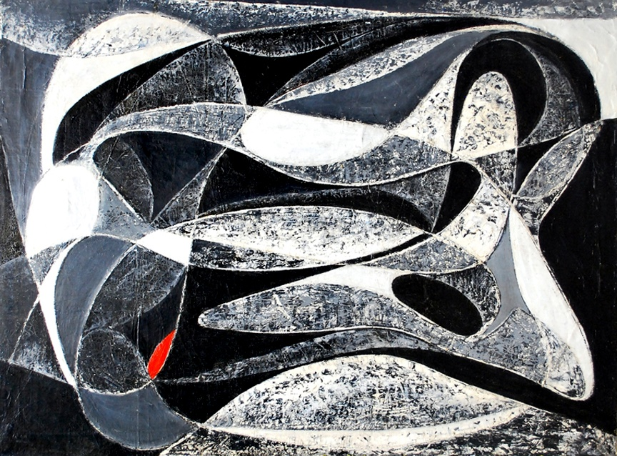 Seymour Fogel - Black and White Color Flow 1950