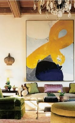 18 super sized statements made by oversized art in - Do you need a degree to be an interior designer ...