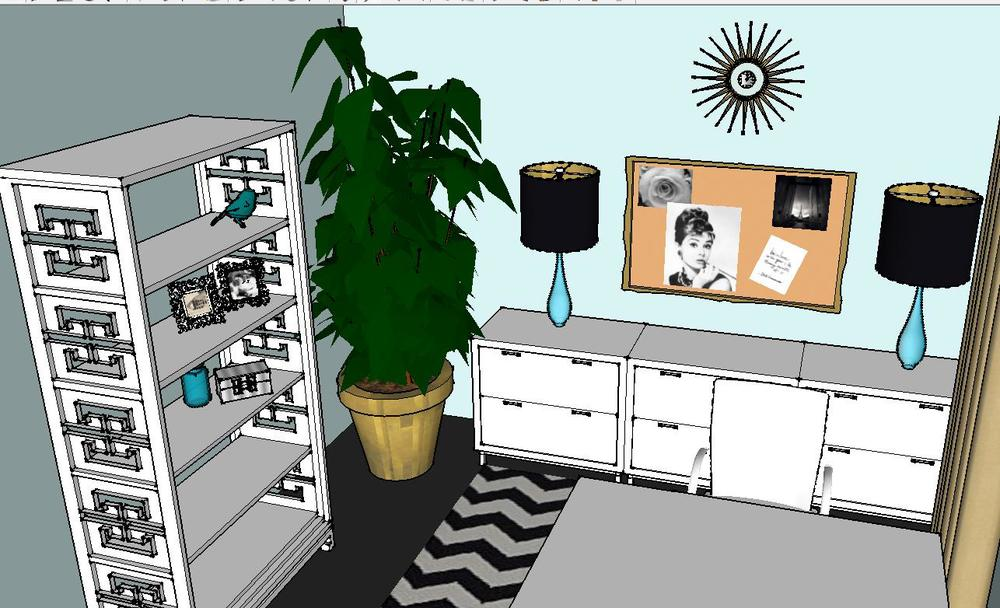 A Trendy, Glam Home Office | Your FREE Design Plan