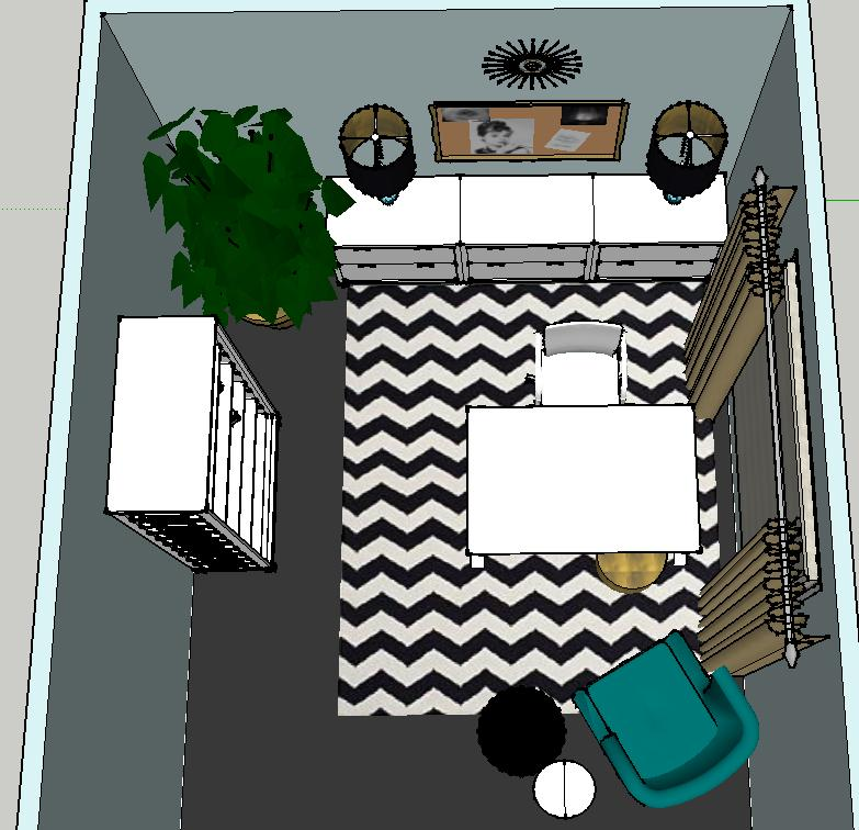 Design Plan | A Trendy, Glam Home Office — DESIGNED