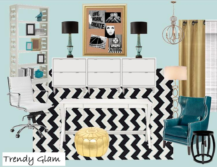 Home Office Design Plan Give Away!  With links and sources to do it yourself!